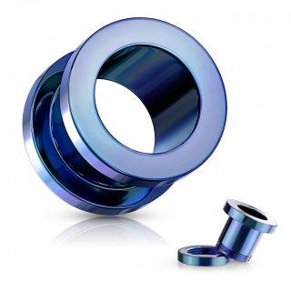 カラフルチタンコーディング スクリュー式トンネル ブルー