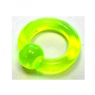 UVアクリル製 キャプティブビーズリング  グリーン