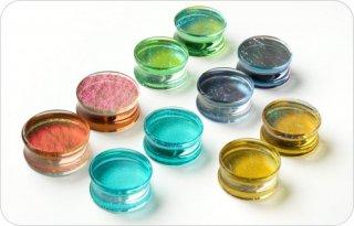 GORILLA GLASS ゴリラグラス ソーダライムグラス製 デラックスダイクロイック ダブルフレアプラグ ボディピアス