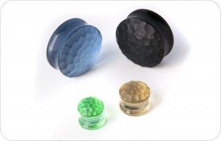 【オーダーメイド】GORILLA GLASS ゴリラグラス ソーダライムグラス製 マルテレソリッド ダブルフレアプラグ ボディピアス