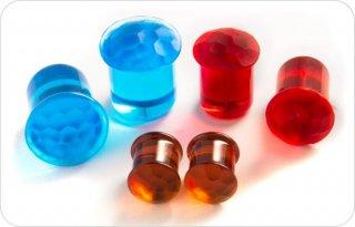 【オーダーメイド】GORILLA GLASS ゴリラグラス ソーダライムグラス製 シンプル シングルフレア Groovedプラグ ボディピアス