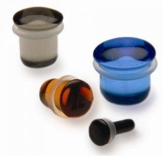 【即納】GORILLA GLASS ゴリラグラス ソーダライムグラス製 シングルフレアソリッドプラグ ボディピアス