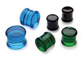 【即納】GORILLA GLASS ゴリラグラス ソーダライムグラス製 フラットプラグ ボディピアス