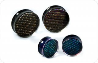 【オーダーメイド】GORILLA GLASS ゴリラグラス ソーダライムグラス製 Iridescent シングルフレアプラグ ボディピアス