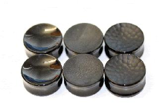【オーダーメイド】GORILLA GLASS ゴリラグラス 黒曜石製 マルテレConcave ダブルフレアプラグ ボディピアス