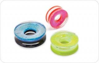 【オーダーメイド】Gorilla Glass ゴリラグラス ソーダライムグラス製 ダイクロイック Eye型プラグ ボディピアス