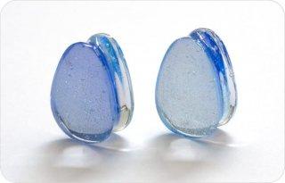 【オーダーメイド】Gorilla Glass ゴリラグラス ソーダライムグラス製 デラックスダイクロイック ダブルフレア ティアドロップ型プラグ ボディピアス