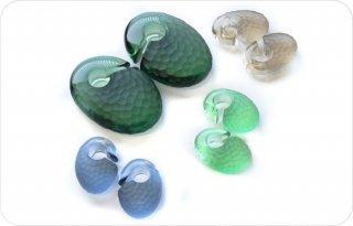 【オーダーメイド】Gorilla Glass ゴリラグラス ソーダライムグラス製 ソリッド マルテレ Ovoid イヤーウェイト ボディピアス