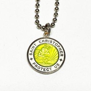 Saint Christopher セントクリストファー コインネックレス Medium (外側カラー:ホワイト)