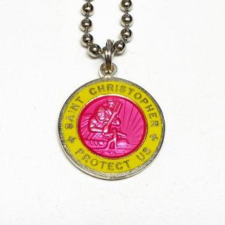 Saint Christopher セントクリストファー コインネックレス Medium (外側カラー:イエロー)