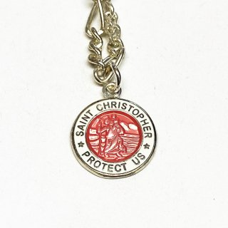 Saint Christopher セントクリストファー コインアンクレット (外側カラー:ホワイト)