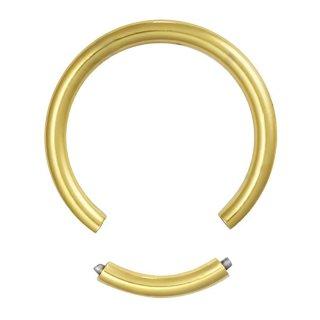 ゴールド ステンレス製 12G セグメントリング ボディピアス