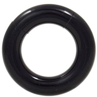 UVアクリル製 カラフル セグメントリング型 ボディピアス ブラック