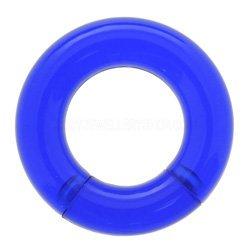 UVアクリル製 カラフル セグメントリング型 ボディピアス ブルー