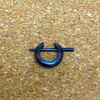 ローズウッド木製 ウッドピアス スモール CC428