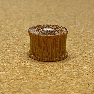 木製 ウッド 凹型トンネル ボディピアス(ココナッツウッド)