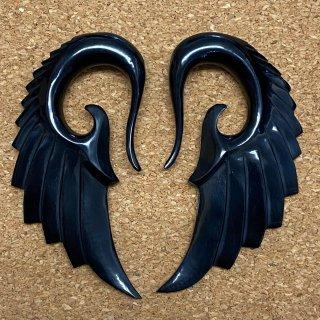 水牛角製ホーン製 手彫り  エンジェルウィング型 ボディピアス