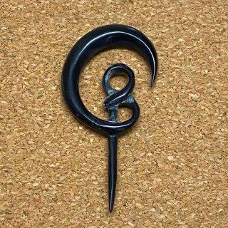 ホーン角製 手彫り 杭型 ボディピアス