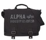 ビンテージ加工 ALPHA INDUSTRIES アルファ ミリタリーCanvas Courier Bag 軍物 ショルダーバッグ