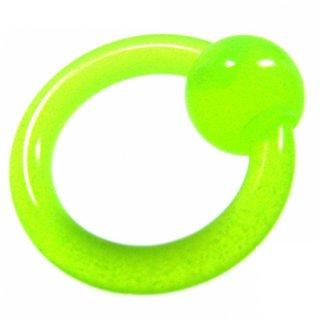 暗闇で光る!蛍光カラー アクリル製 グリーン キャプティブビーズリング
