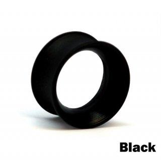 Kaos Softwear カオスソフトウェア スキンアイレット プラグ シリコン製 ボディピアス ブラック