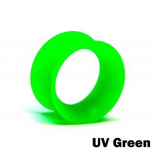 Kaos Softwear カオスソフトウェア スキンアイレット プラグ シリコン製 ボディピアス UVグリーン