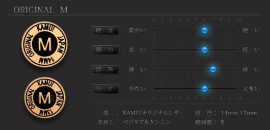 カムイオリジナル タップ [KAMUI ORIGINAL TIP] M