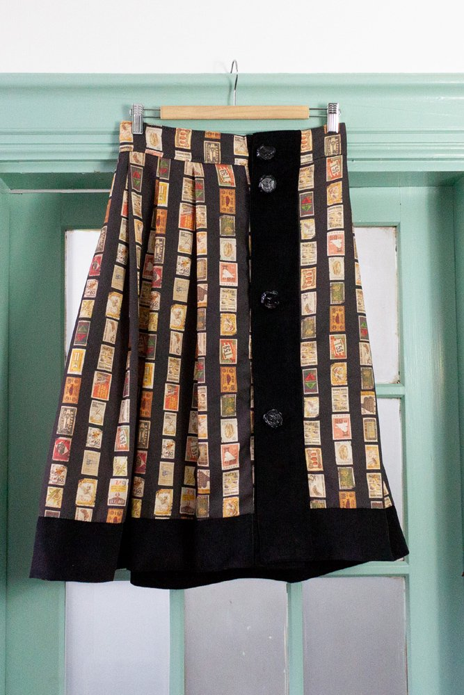 シーリングワックス 切手スカート【ブラック】