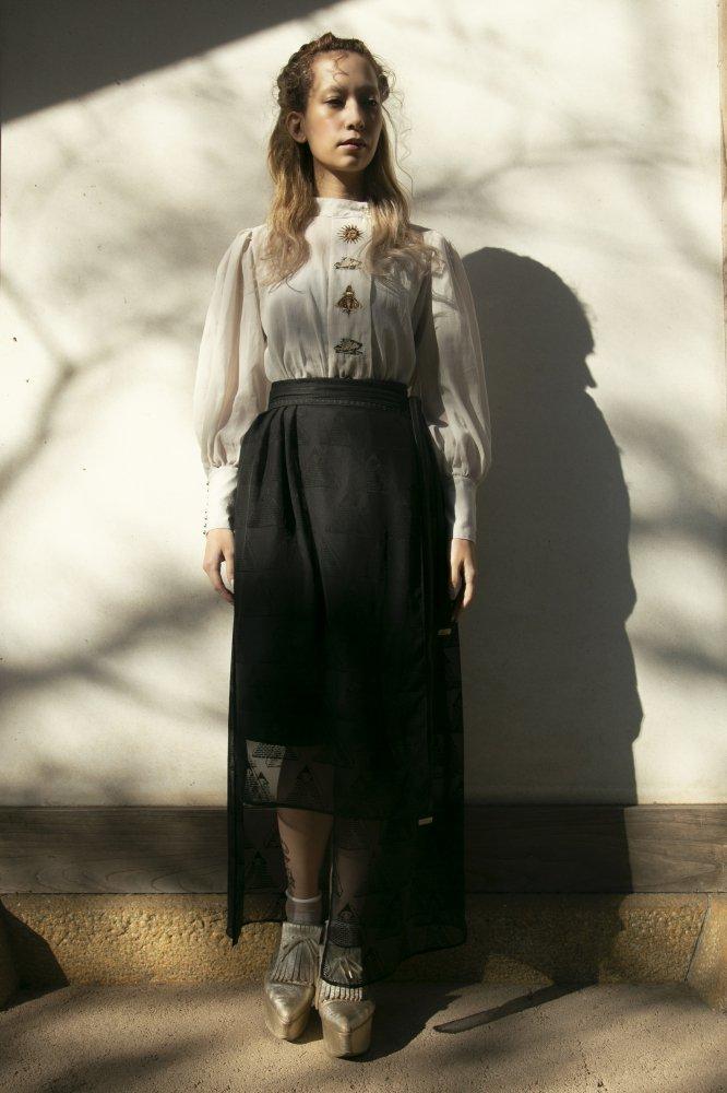 ピラミッドアイタブレット ラップスカート Black