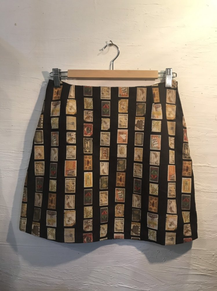 antique stamp miniskirt