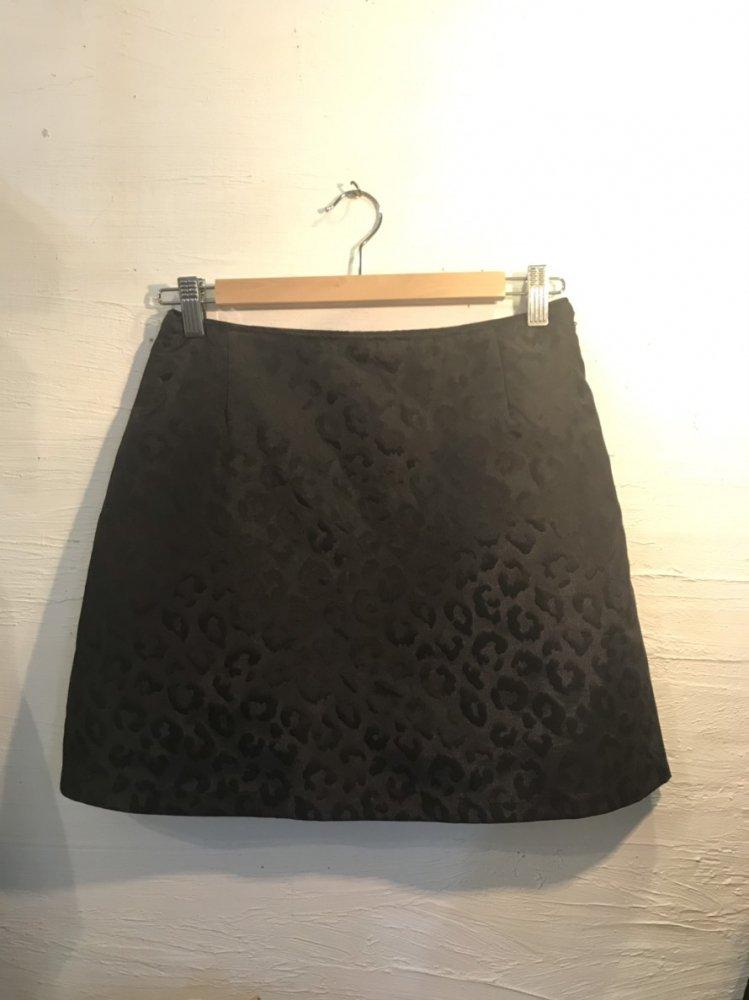 Black leopard miniskirt