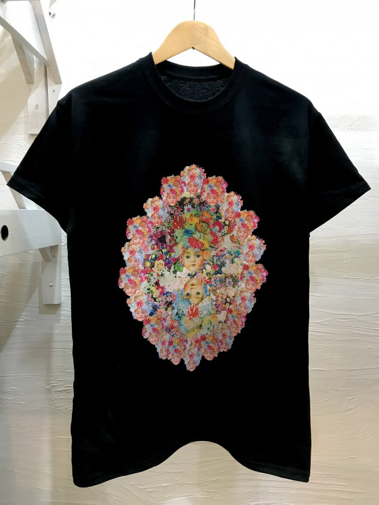 生首少女ウミウシ曼荼羅T-shirt BLACK
