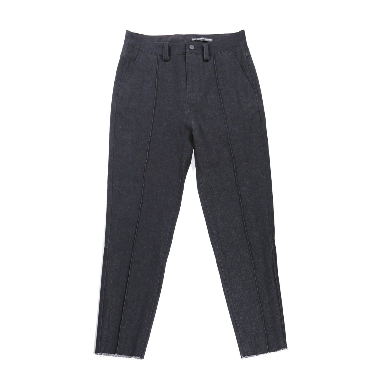 <予約>Black denim tapered pants <8月発送>