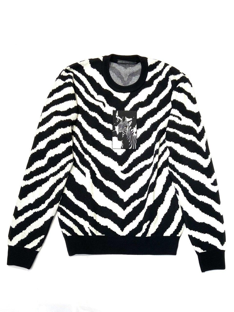 <予約>Zebra knit (zebra embroidery) <8月発送>