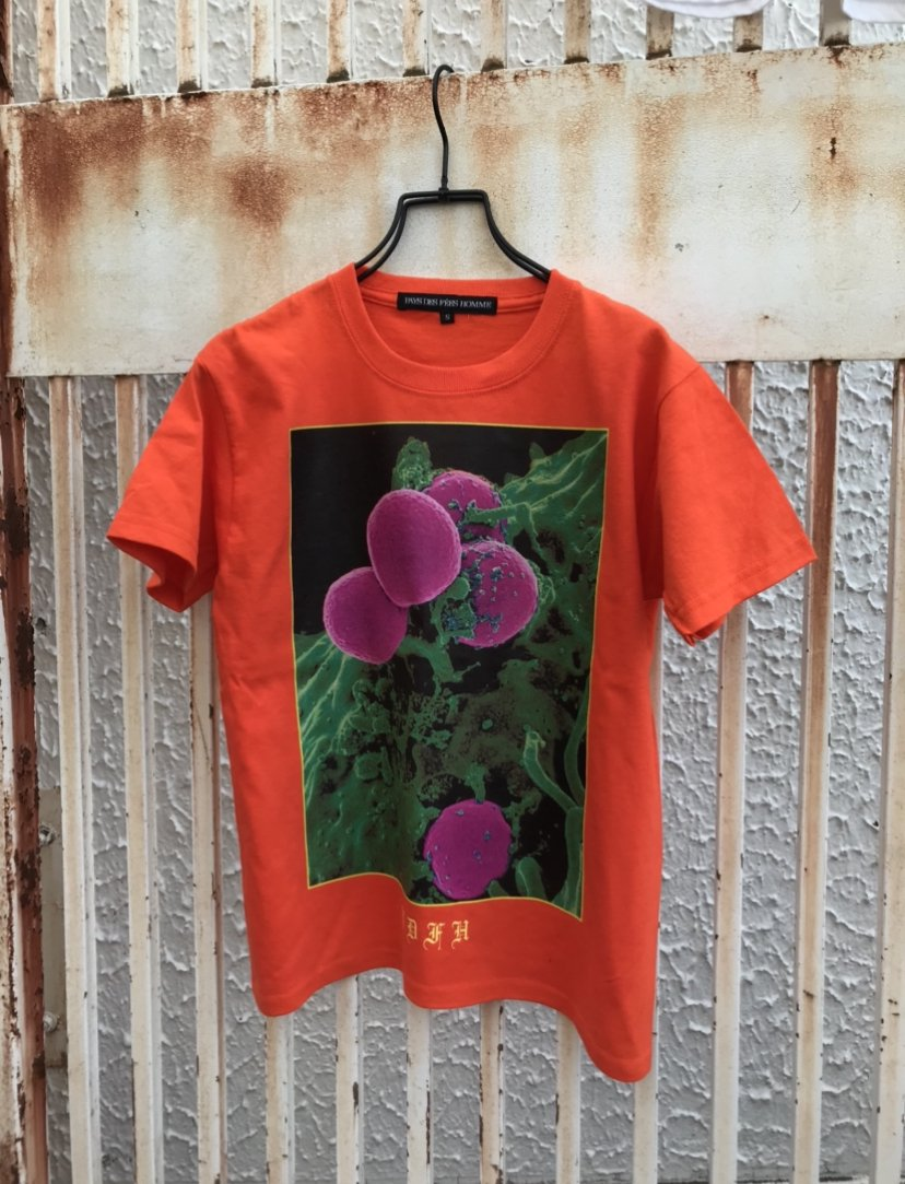"""BLOOD"" T shirt  Orange"