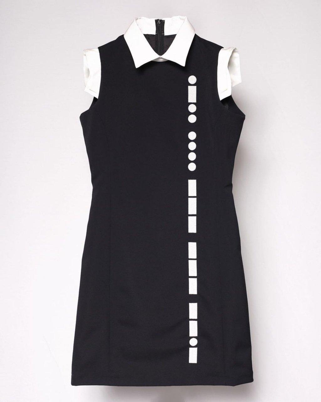 [ご予約]Morse code Dress(Black)[2021年3月お届け]