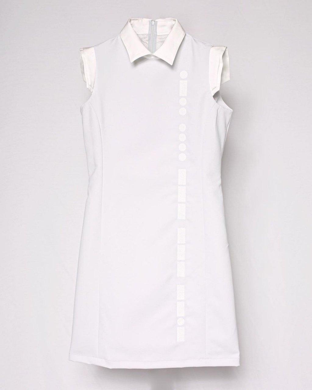 [ご予約]Morse code Dress (Light gray)[2021年3月お届け]