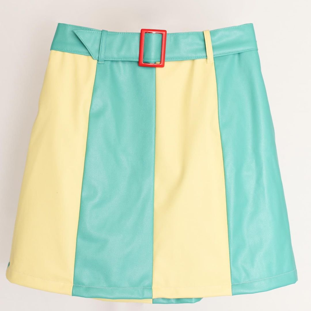 Bi-color Skirt(Lemon×green)