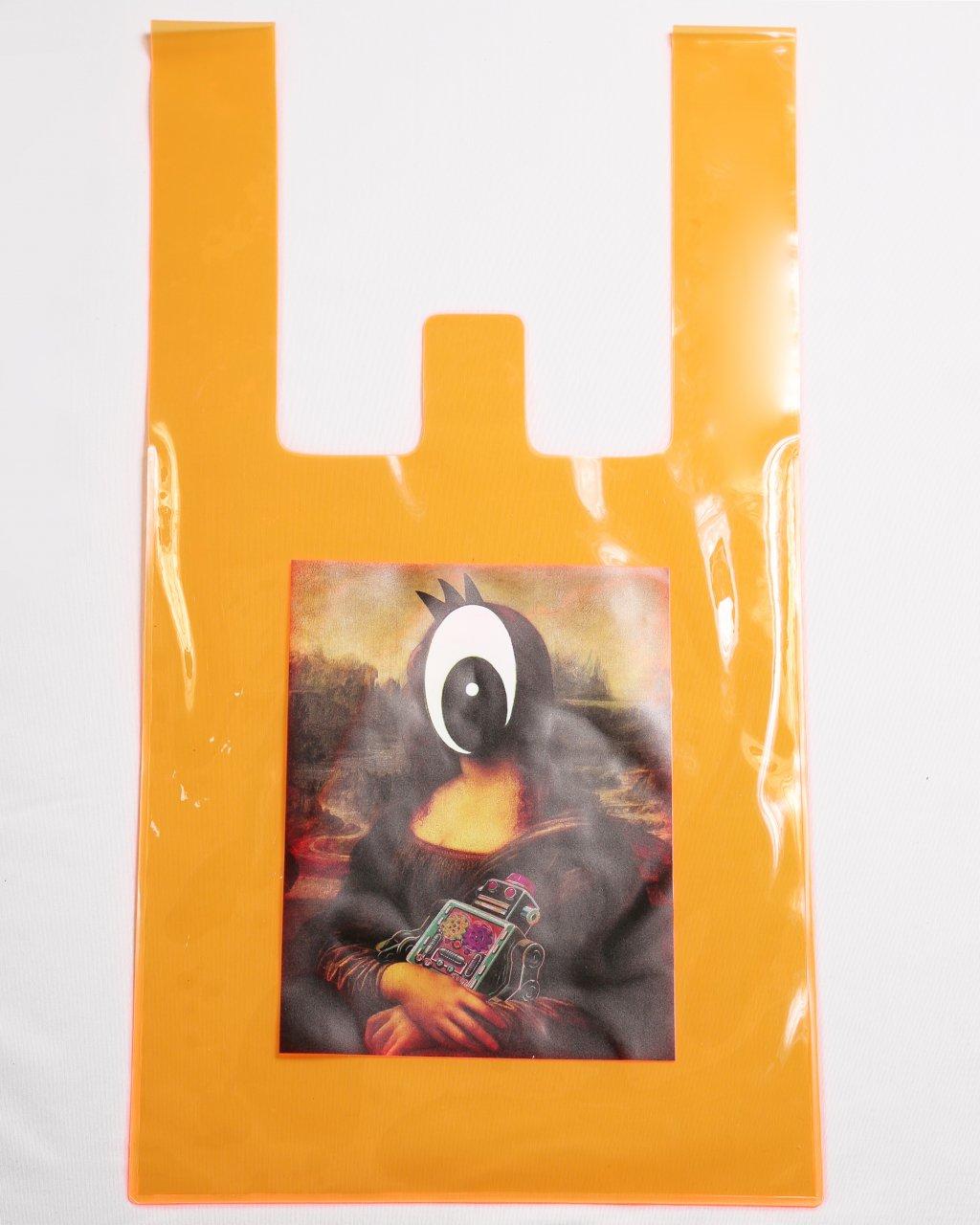 Orange PVC bag(collage by Q-TA)
