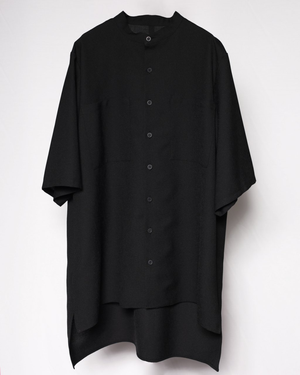 """The Pardon""Band Collar Shirts Black"