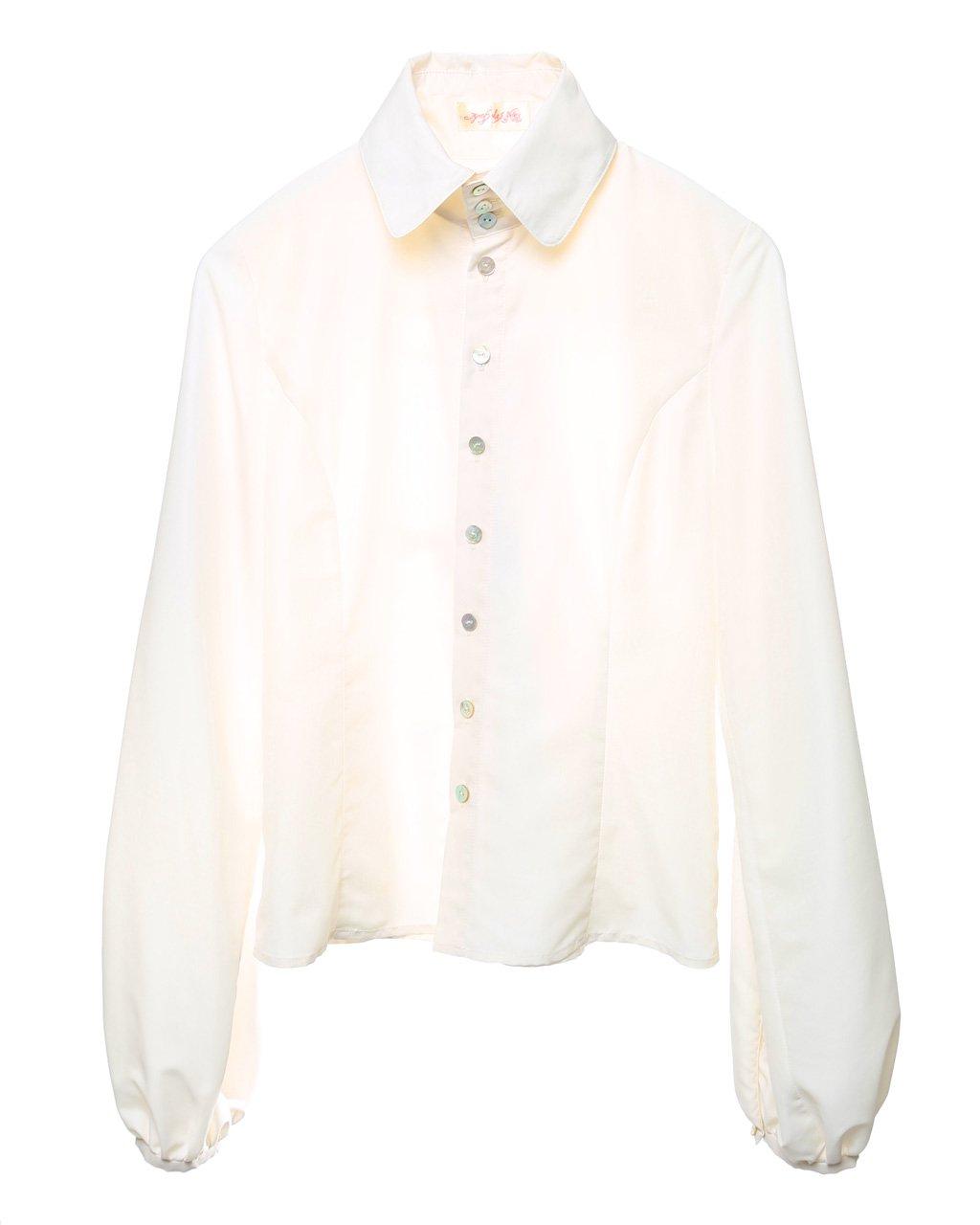 [ご予約]Balloon shirt (white)[8月お届け]