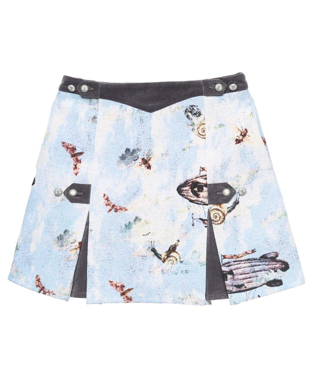 [ご予約]Zero gravity utopia Gobelin weave miniskirt[8月お届け]