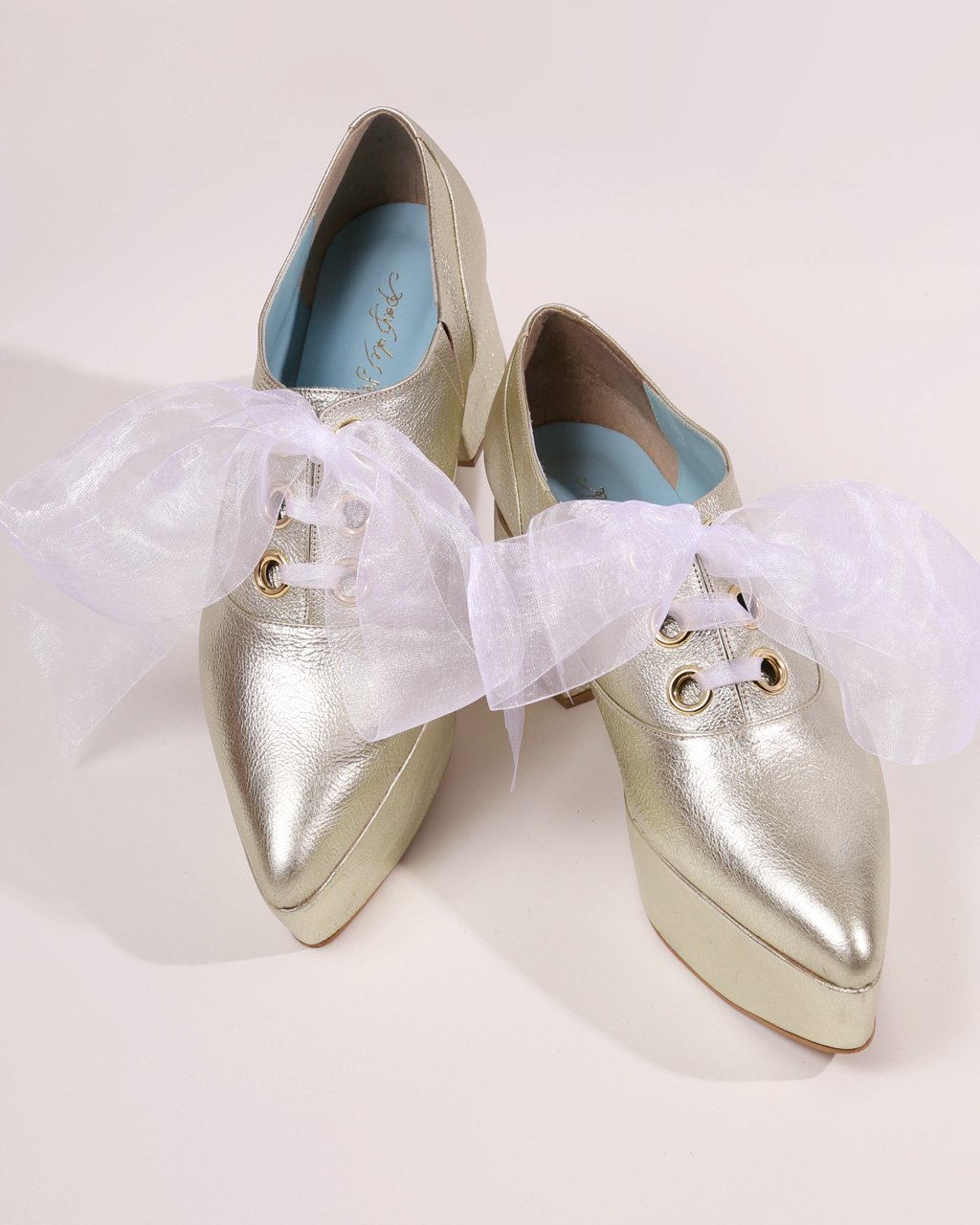 [ご予約]ribbon oxford shoes Organdy (White)[8月お届け]