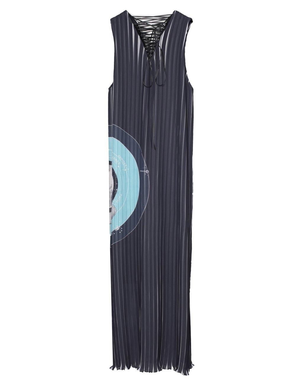 プリーツレースアップドレス ブラック[ご予約・2022年1月お届け]