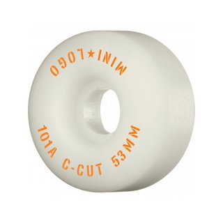 【53mm】MINI LOGO(ウィール)_C-Cut 101a_White