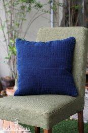 HEMP&COTTON クッションカバー 40×40 / 藍染めINDIGO