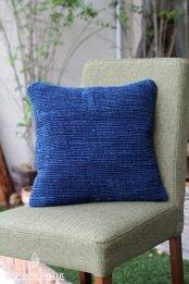 ハンドスピニングシルク クッションカバー 40×40 / 藍染めINDIGO
