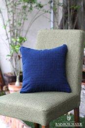 HEMP&COTTON クッションカバー 35×35 / 藍染めINDIGO