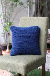 ハンドスピニングシルク クッションカバー 35×35 / 藍染めINDIGO