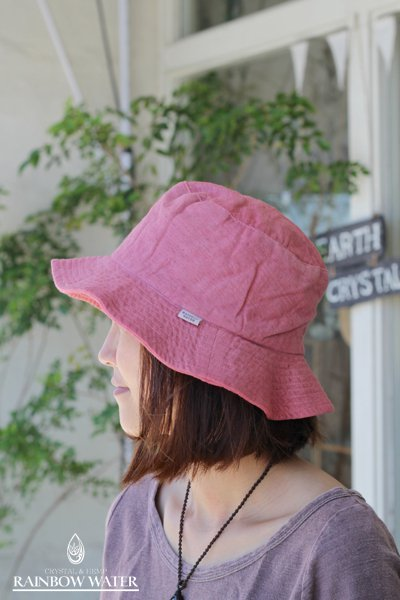 HEMP&COTTON ハット / 草木染めPINK